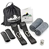 Outdoor Delight Tree Swing Hanging Kit with Tree Protectors and Protective Sleeves. Two 10ft Long Straps Holds 2200 lbs.