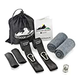 Outdoor Delight Tree Swing Hanging Kit with a Set of Protective Devices. Two 10ft Straps Holds 2200 lbs.