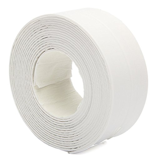 New 3.8X335cm Bath Sink Wall Sealing Strip Self-adhesive Tape Waterproof Mildew Proof by Letbobg