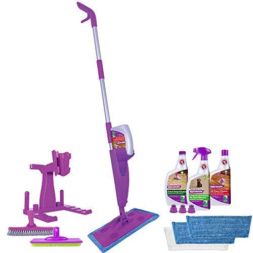 Rejuvenate Click N Clean Multi-Surface Spray Mop System Complete Bundle Includes Free Click-On Pro Grade Grout Brush…