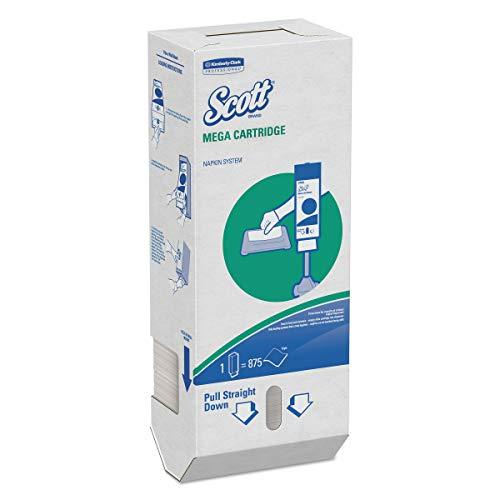 Scott 98908 MegaCartridge Napkins, 1-Ply, 8 2/5 x 6 1/2, White, 875 per Pack (Case of 6 Packs) (Scott Mega Cartridge)