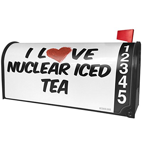 NEONBLOND I Love Nuclear Iced Tea Cocktail Magnetic Mailbox Cover Custom Numbers (Nuclear Ice)
