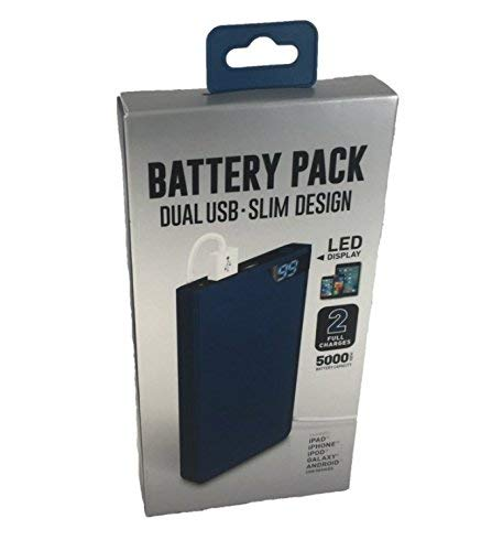 Shen Zhen DNS 16WMS126-BLU 5000mAh Dual USB Battery Pack - Blue