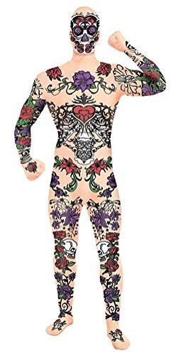 Forum Novelties Men's Disappearing Man Tattoo Costume, Multi, Standard ()