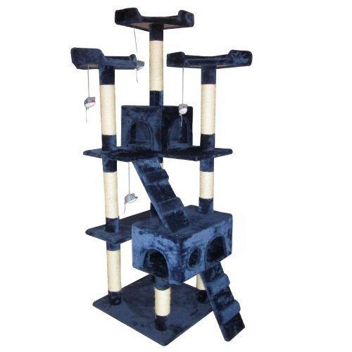 454 opinioni per Leopet Tiragraffi albero cuccia gioco per gatti colore blu