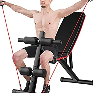 【US Direct】Adjustable Bench,Utility Weight Bench for Full Body Workout- Multi-Purpose Foldable Incline/Decline Bench