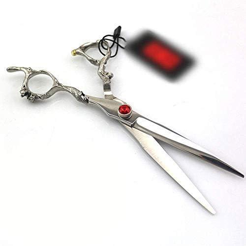 XYSQWZ Hair Scissors Set, 7.0Inch Light Professional Hairdressing Scissors Flat Shear Scissors Styling Tools Silver