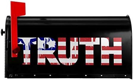 USA Truth Large Capacity Mailbox Decorative Postmount Postal Storage Box 255x21 in
