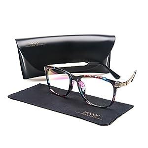 Eyewear Frames Eyeglasses Optical Frame Wayfarer Classic Clear Lens Glasses For Women&Men(C3)