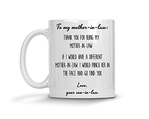 Mother In Law Gift From Groom Thank You Punch The Face Coffee Mug Best Ever