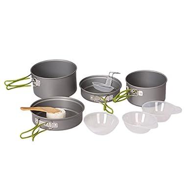 OUTAD Cooking Bowl Pot Pan Set - 10 Piece