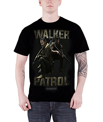 The Walking Dead Walker Patrol Rick daryl Official Mens New Black T Shirt
