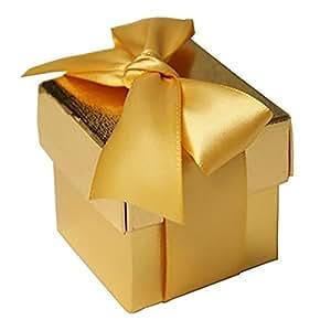 Amazon.com: BalsaCircle 100 Gold Cute Wedding Favors Boxes