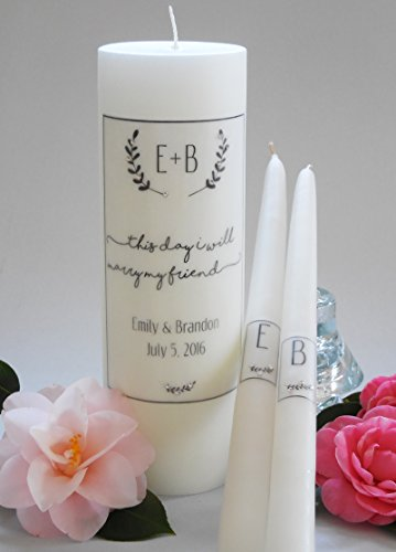 (Laurel Wedding Unity Candles)