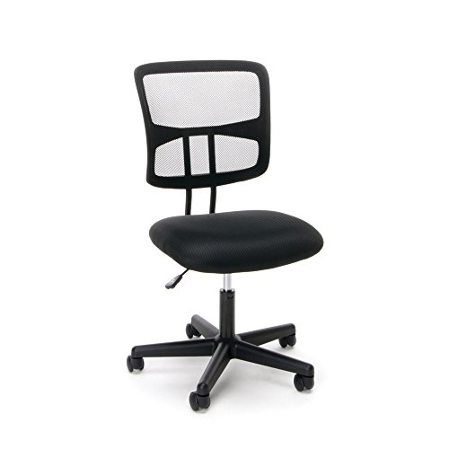 Essentials Swivel Armless Mid Back Mesh Task Chair – Ergonomic Computer/Office Chair (ESS-3020)