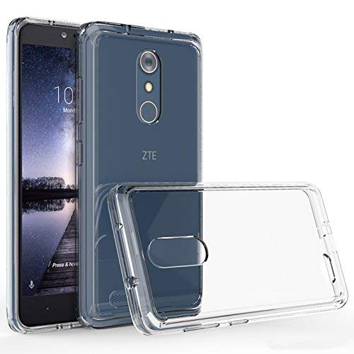 ZTE ZMAX Pro Case, ZTE Z981 Case, Kaesar Crystal Clear Ultra Slim Anti Scratch Bumper Case with Clear Back Hard Panel Protective Case Cover for ZTE ZMAX Pro - Clear - Eforcity Clear Crystal Phone Case