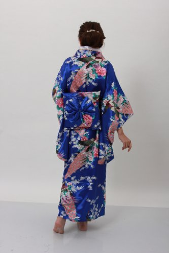 JTC Traditional Japanese Dress Women's Brocade Deluxe Kimono Robe Yukata by Jtc (Image #3)