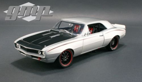 NEW 1:18 W/B GMP LIMITED EDITION REPLICAS COLLECTION - METALLIC SILVER 1967 CHEVROLET CAMARO STREET FIGHTER Diecast Model Car By GMP