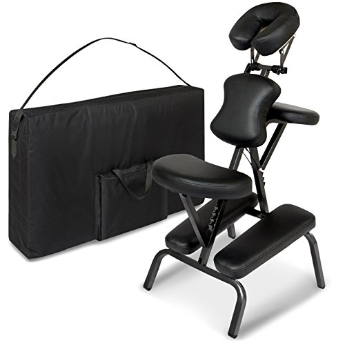 Folding Portable Light Weight Massage Therapy Chair w/Carrying Bag Case - Black (Folding Massage Chair)