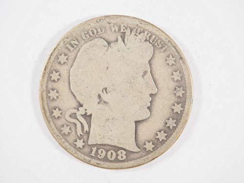 1908 P Barber Half Dollar Half Dollars Ungraded