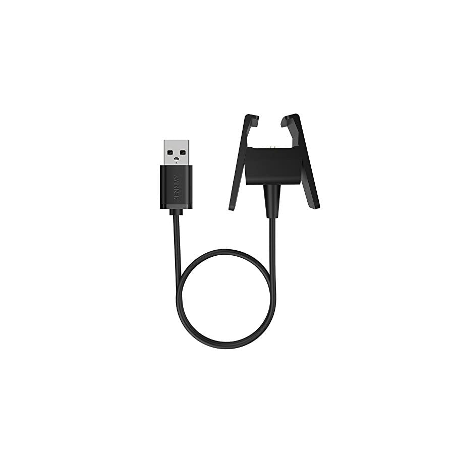 Awinner Charger Compatible for Fitbit Charge 2 Replacement USB Charger Adapter Charge Cord Charging Cable for Fitbit Charge 2 Heart Rate Fitness Wristband (1 Pack)