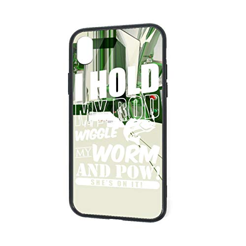 (C-CASE I Hold My Rod Wiggle My Worm Flexible Unique Creative Durable Waterproof TPU Inner Shockproof Glass IPhoneXR Case)