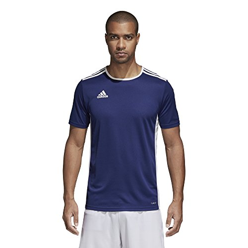 adidas Mens Soccer Entrada 18 Jersey, Dark Blue/White, X-Large