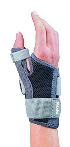 (Mueller Sports Medicine Adjust-to-Fit Thumb Stabilizer, Gray, One Size Fits)