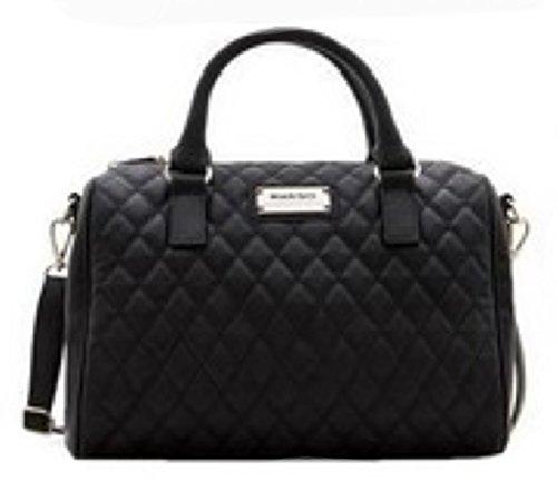 Sac à main noir matelassé MANGO, sac tendance matelassé, sac noir MODE 2014, petit sac noir - blanc, Sac à Main