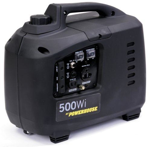 60370 , 450 Running Watts/500 Starting Watts, Gas Powered Portable Inverter, CARB Compliant - Powerhouse 500WI