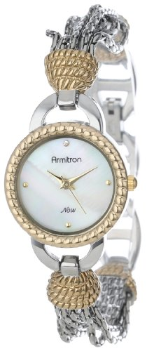 Armitron Women's 75/5036MPTT Two-Tone Chain Bracelet Watch