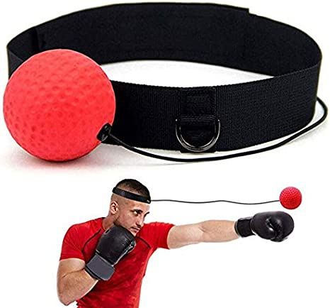 Exercise Fight Punch Speed Training Ball,Boxer Head Cap String Boxing Reflex Ball,Boxen Training Ball