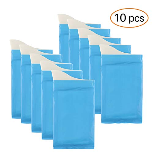 GGBuy Disposable Urine Bags Camping Pee Bags for Travel Urinal Toilet Super Absorbent Traffic Jam Emergency Portable Urine Bag Pee Bags Car Toilet for Men Women Children Brief Relief, 10 -