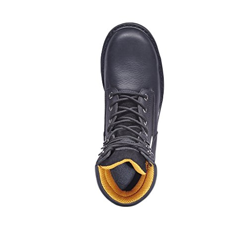 KINGSHOW Mens 1312 7 Premium Full-Grain Leather Plain Rubber Sole Soft Toe Work Boots Black c10SApC