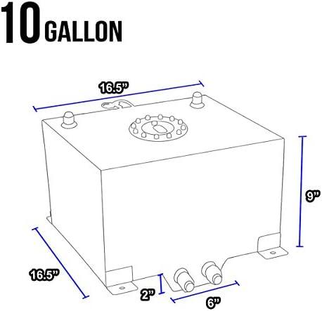 DNAMotoring ALU-FT-T4-ALU アルミニウム 10ガロン 燃料電池 ガソリンタンク