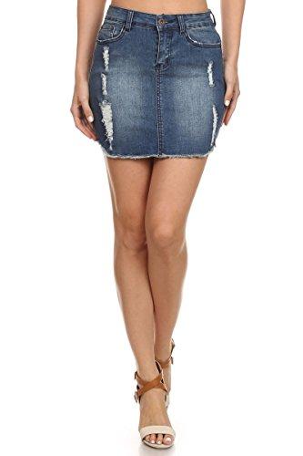 Denim 5 Pocket Skirt - 5