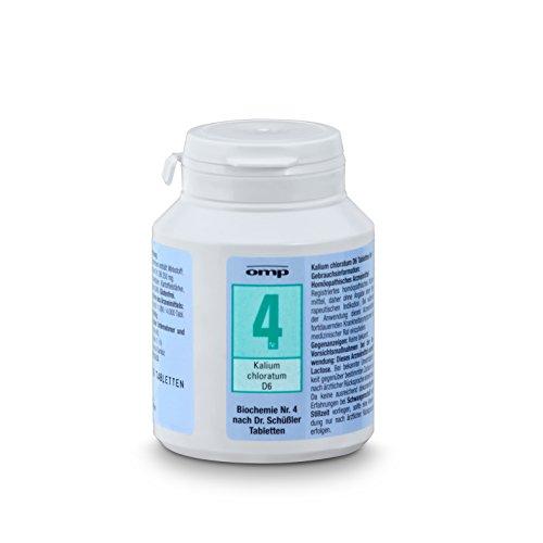 Schuessler Salz Nr. 4 Kalium chloratum D6 - 400 Tabletten, glutenfrei