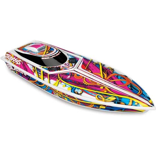 Traxxas 1/10 Scale Blast Boat Remote Control Boat, Multi-Color, 1/10