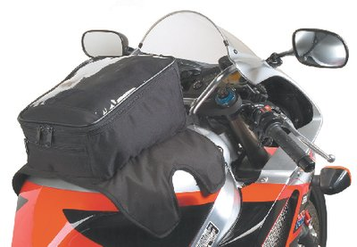 08-00 Water Resistant Magnetic Mount Motorcycle Tank Bag with Window ()