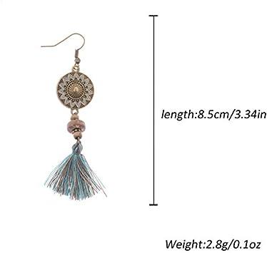 Doitsa 1 Paire Boucles doreilles Gland Gemmes de Cristal de Mode Boucles doreilles Pompon Accessoires de d/écoration pour Femme Blanc