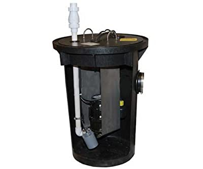 Zoeller 915-0006 1/2 HP The Shark Residential Sewage Grinder System with 24-Inch Basin