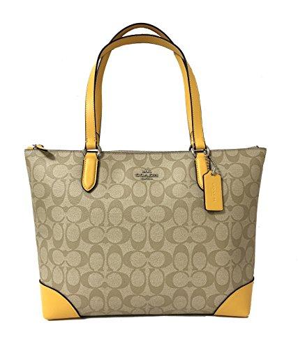 Coach Signature Zip Tote Shoulder Handbag (SV/Light ()