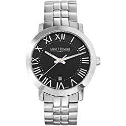 Saint Honore Men's 861120 1NFRN Trocadero Paris Brushed and Polished Stainless Steel Date Watch