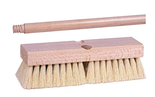 Bristles 10 Inch Hardwood Block - Weiler 448 Deck Brush Kit - Hardwood 15/16 in 60 in Handle - Tampico 2 in Bristle - 10 in Hardwood Block - 44877 [PRICE is per KIT]