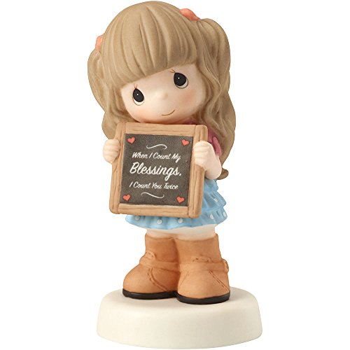 Precious Moments 162017 When Icount My Blessings Icount You Twice, Bisque Porcelain Figurine