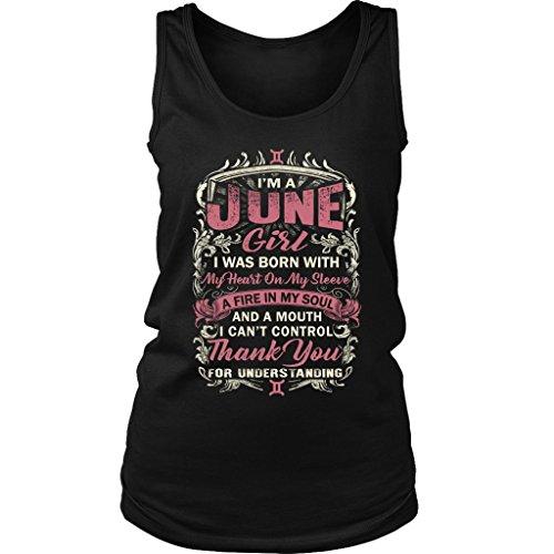 SaleOff.Us Gemini Tank Top Shirt For June Girl-June Birthday Gift - Gemini Womens Top