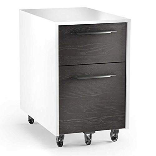 BDI Format 6307 Mobile File Pedestal (Charcoal with Satin White Finish) by BDI Distributors Inc.