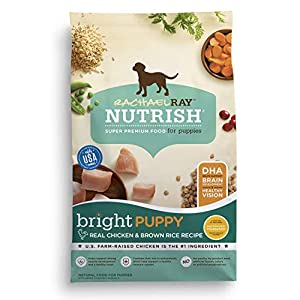 Rachael Ray Nutrish Bright Puppy Real Chicken & Brown Rice Recipe Dry Dog Food, 14 Pounds 68