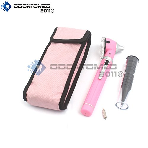 OdontoMed2011® NEW MINI FIBER OPTIC OTOSCOPE LIGHT PINK (POCKET SIZE) ENT DIAGNOSTIC SET + 1 EXTRA FREE BULB QUALITY INSTRUMENTS