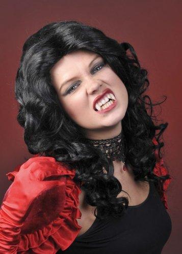 Ladies Gothic Curly Black Glamour ()